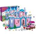 Envolver Grandes Bloques de Construcción de Juego Compatible Con Amigos 532 Unids 4 Figuras Muñeca Princesa Castillo de Juguetes para Niñas