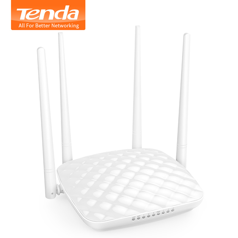 Tenda Router FH456 Wifi Wireless Router Mutli Language Fiber Optic Router Intelligent Household 4 Wifi Aerial 300m Easy Setup