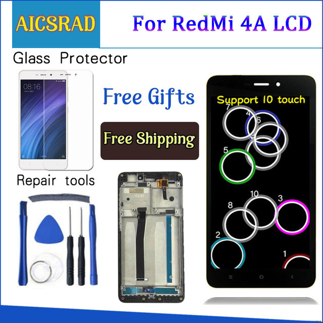 """AICSRAD 5.0"""" LCD For XIAOMI Redmi 4A LCD Display Touch Screen Digitizer Replacement For XIAOMI Redmi 4A Display With Frame"""