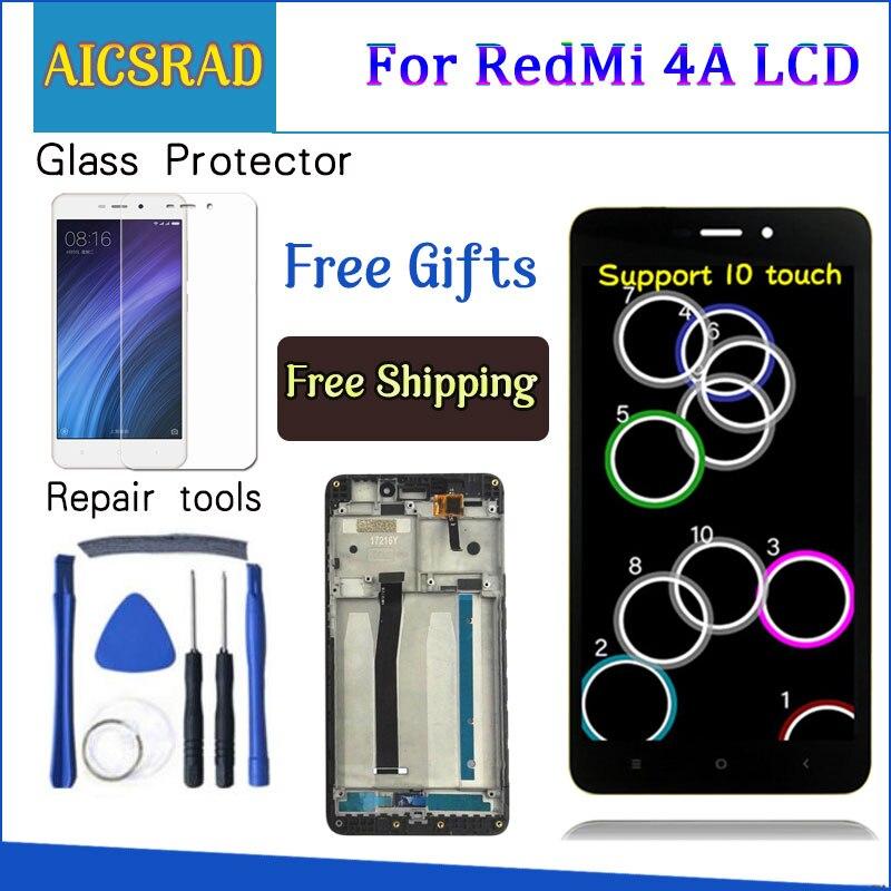 AICSRAD 5,0 LCD para XIAOMI Redmi note 4A pantalla LCD digitalizador de pantalla táctil de reemplazo para XIAOMI Redmi 4A con marco
