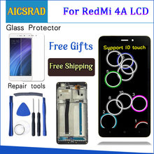 AICSRAD شاشة عرض LCD 5.0 بوصة لشاومي ريدمي 4A شاشة عرض LCD تعمل باللمس محول رقمي لشاشة شاومي ريدمي 4A بإطار