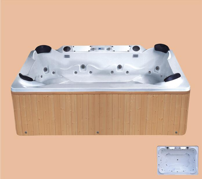 2900mm 4 People Capacity Swimmimg Pool  whirlpool Bathtub AcrylicHydromassage Indoor Four People SPA NS2002
