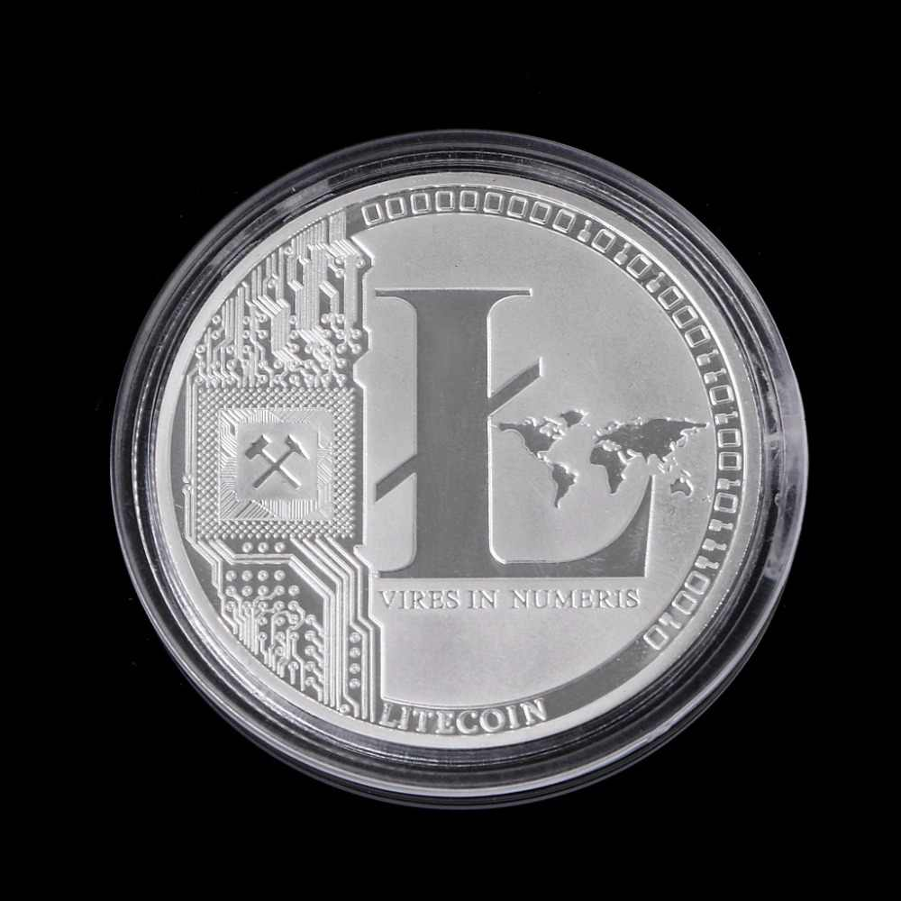 1 OZ Pure .999 Silver Plated 25 LTC Litecoin Vires in Numeris Medallion Coin for coins