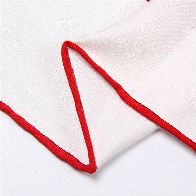 Pobing 90x90 cm seda bufanda mujeres doble perro impresión cuadrada ...