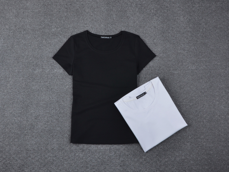e7dcc981962 Casual T shirts for women Pure Color Lady tshirt Cotton Comfortable ...