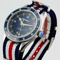 ساعة رجالي Debert 41 مللي متر بقرص أزرق الحافة وزجاج ياقوت أوتوماتيكية 1908-في الساعات الميكانيكية من الساعات على
