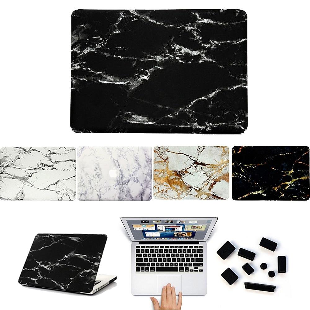 For Funda Macbook Air 13 Marble Case Hard Matte Pvc Laptop