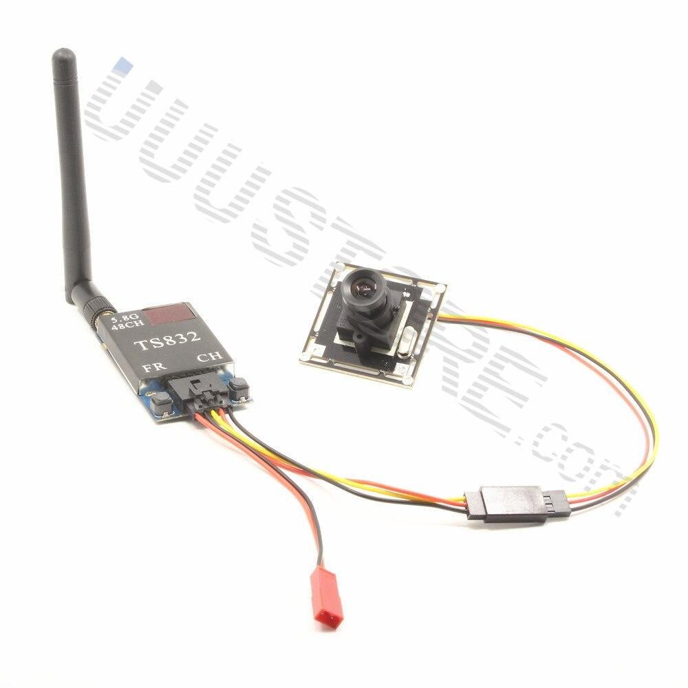 1000TVL Camera w/ 2.8mm wide angle lens + TS832 5.8Ghz 48Ch 600mW FPV AV Wireless Transmitter for QAV-R 220 Quadcopter цена