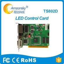 Linsn ts802d cartão envio para exibição de vídeo rgb controlador substituir sistema de controle linsn ts801 ts802 linsn ts801d cartão envio