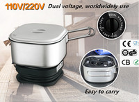 Dual Voltage Wordwidely Use Travel Cooker Portable Mini Electric Rice Cooking Machine Hotel Student Room cooker