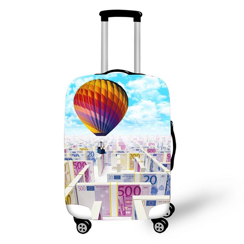 Air balloon Design travel accessories suitcase protective covers 18 30 inch elastic luggage dust cover case stretchable in Travel Accessories from Luggage Bags