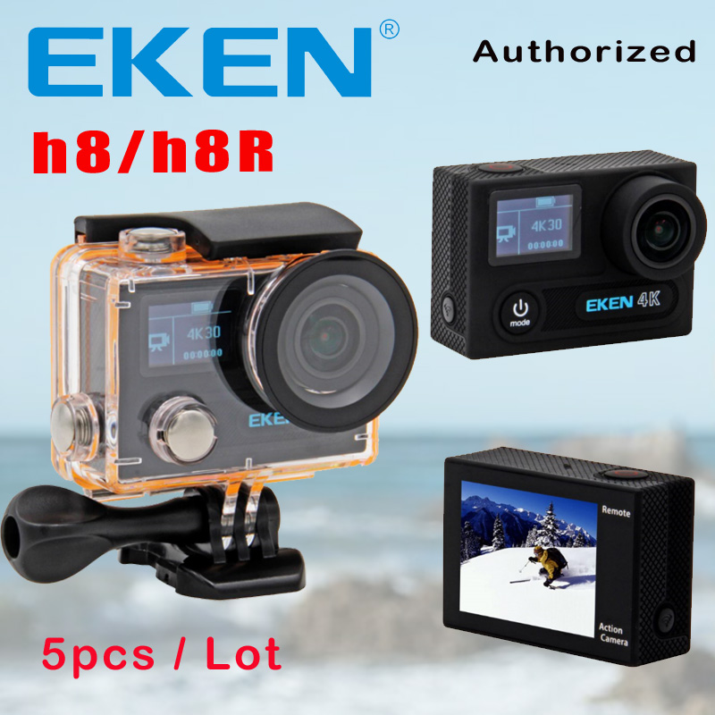 100% Original EKEN H8 H8R 4K 30fps 2.0 Screen Actioncam Remote Ultra HD Mini Bike Cam Underwater 30M Sports Action Camera DVR original eken action camera eken h9r h9 ultra hd 4k wifi remote control sports video camcorder dvr dv go waterproof pro camera
