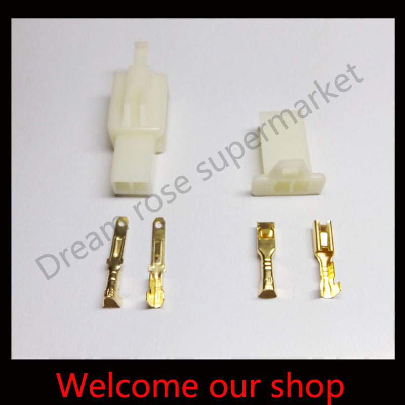 Free shipping 30 sets 2 8mm 2 Way pin automotive male female terminals connector for