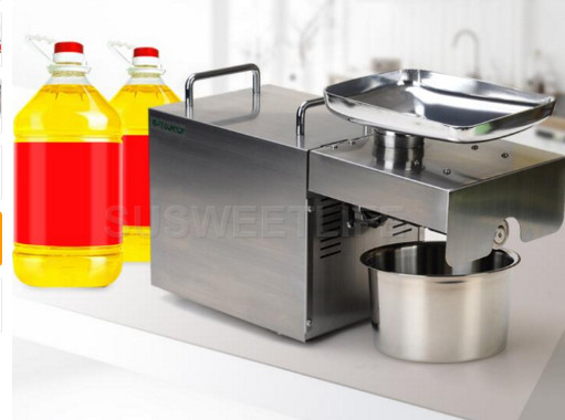 Fast shipping 110V 220V Stainless steel Sunflower oil machine cold press coconut oil extractor machine hand
