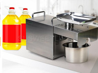 Fast shipping 110V 220V Stainless steel Sunflower oil machine cold press coconut oil extractor machine hand operated oil press