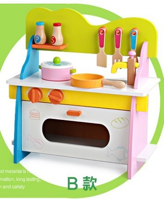 Baby Kid cooking Toy set Wooden Play simulation Kitchen toy for children Pretend Play wooden toy food Tools set pink