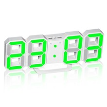 led electronic alarm clock digital wall clock usb powered large numbers brightness automatically dims or manually adjustable
