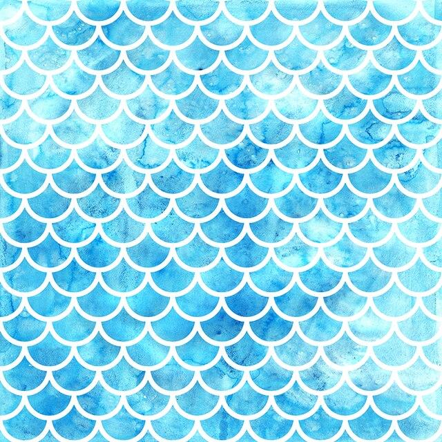 mehofoto blue glitter photography backdrops mermaid scales photo