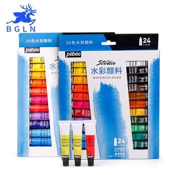 Pebeo profesjonalne 24 kolory/zestaw wklej akwarela przejrzyste akwarela pigmentu dla artysty uczeń szkoły dostaw sztuki