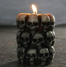 Multi Skull Candle Mould Tricky Halloween Silicone Terror Soap free shipping PRZY