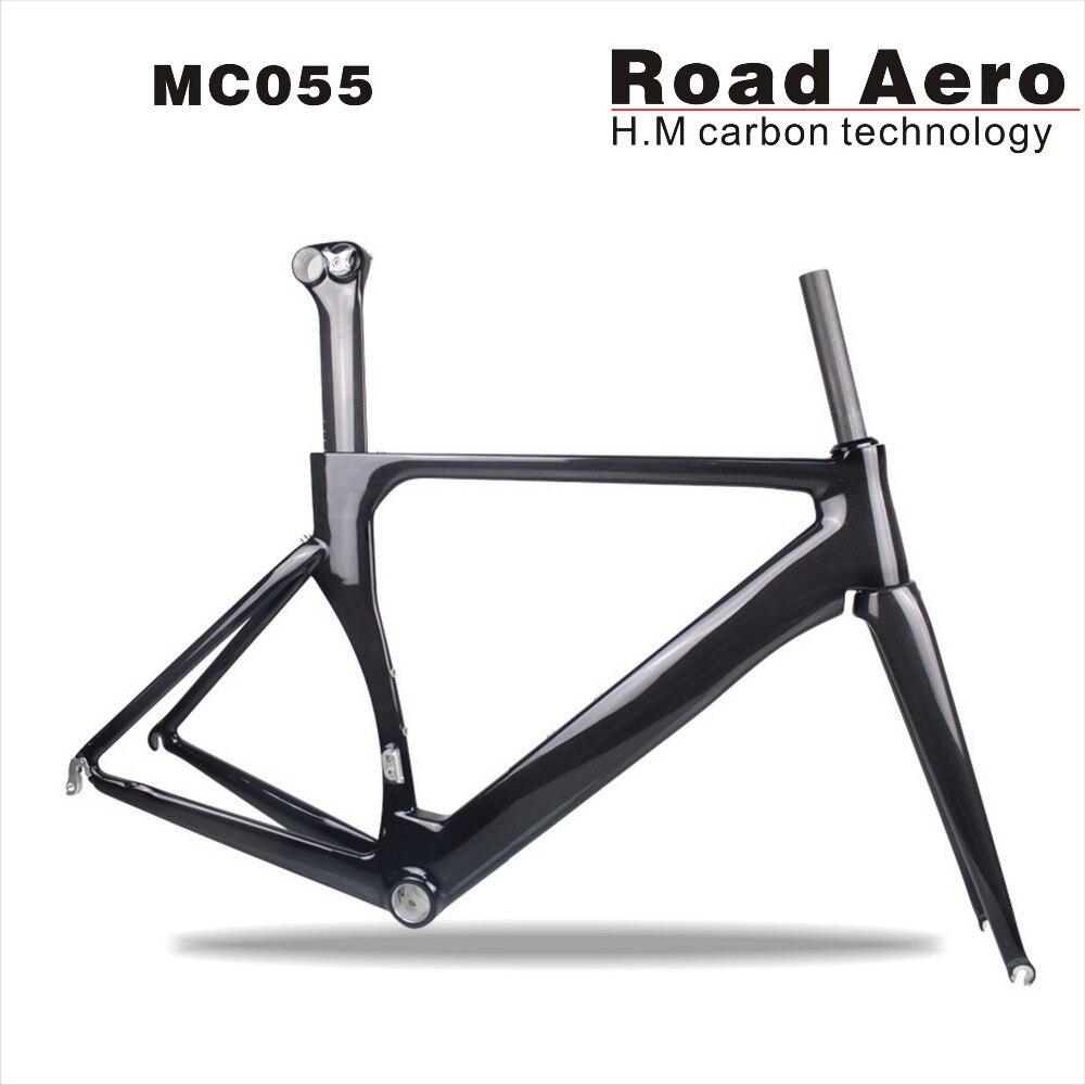 2018 AERO Carbone route cadre Carbone route vélo Bicicletas cadre 49/54/56/58 cm Cadre + fourche + tige de selle