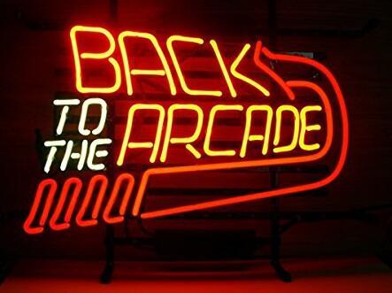 Retour à l'enseigne de néon d'arcade
