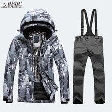 Камуфляжная куртка зимняя Для мужчин Куртки штаны лыжный костюм Для мужчин Комплекты для сноубординга Мужской Горный Сноуборд костюм Для мужчин зимние Для мужчин; спортивный костюм