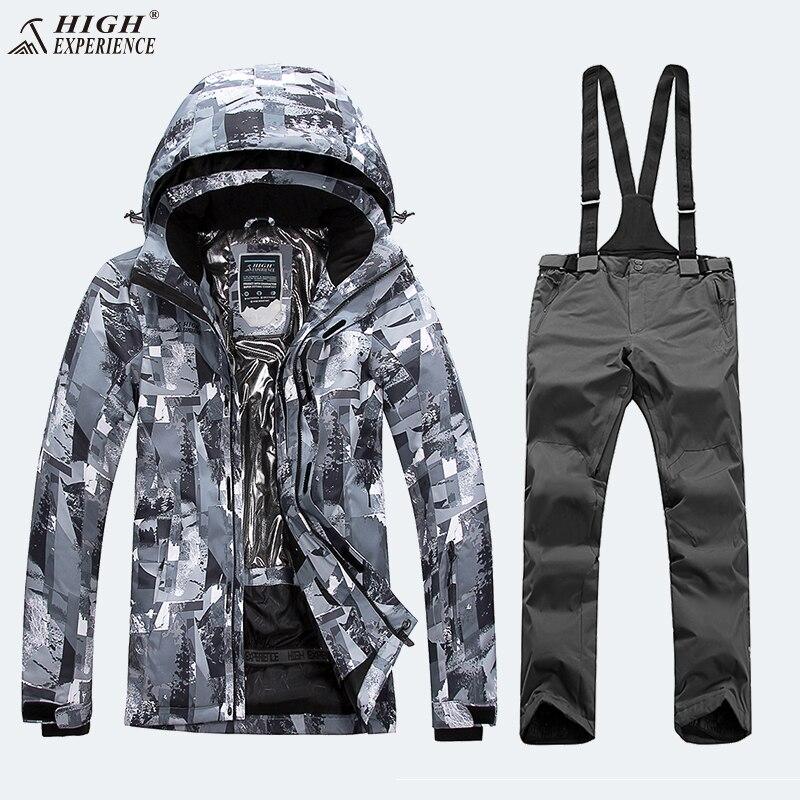 Camo Veste D'hiver Hommes Vestes Pantalon de Ski Costume Hommes Snowboard Ensembles Mâle Montagne de Snowboard Costume Hommes Hiver Hommes sport Costume