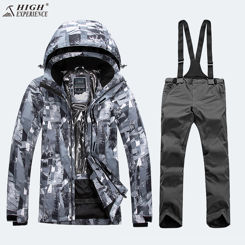 Veste de camouflage D'hiver Hommes Vestes Pantalon de Ski costume pour homme Snowboard Ensembles Mâle Montagne Snowboard costume pour homme Hiver Hommes de Sport Costume