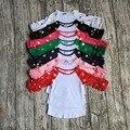 Envío gratis chicas ropa raglan tops chicas casual tops 7 color oro polka dot girls Otoño top girls glas raglans camiseta