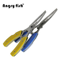 Fishing Tools Gear Cut Line Fishhook remove Lure Scissors Fishing Plier Yellow/Blue Color L3