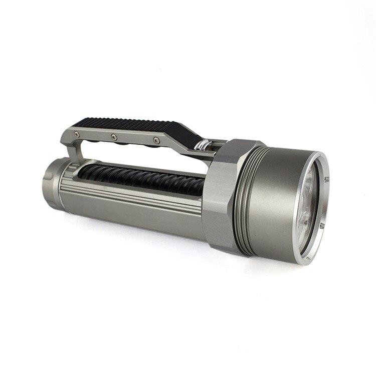 ANJOET Portable lighting Super bright Lantern Silver/Black Underwater Flashlight 6000LM 6*XM L2 LED Waterproof Diving lamp - 6