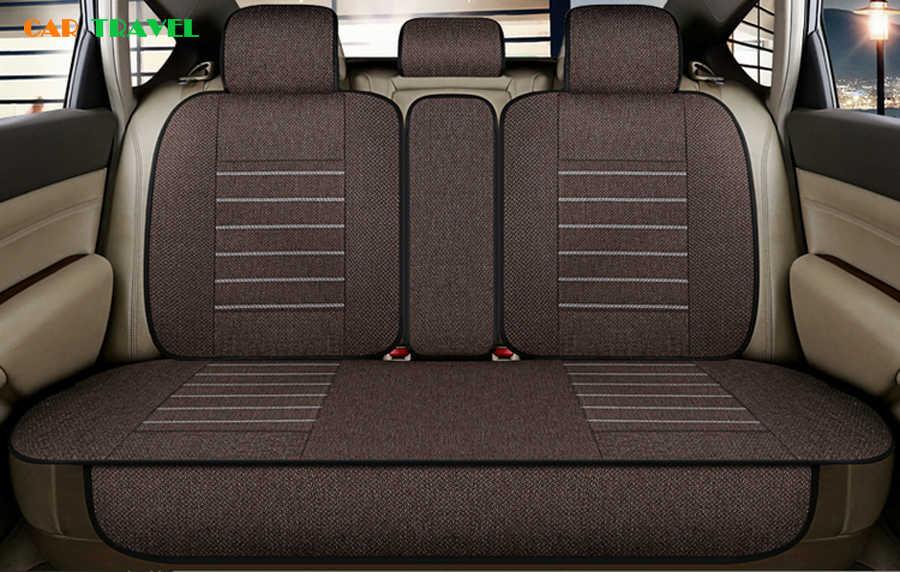 Housse de siège de voiture universelle en lin pour Volvo S60L V40 V60 S60 XC60 XC90 XC60 C70 s80 coussin de siège style de voiture