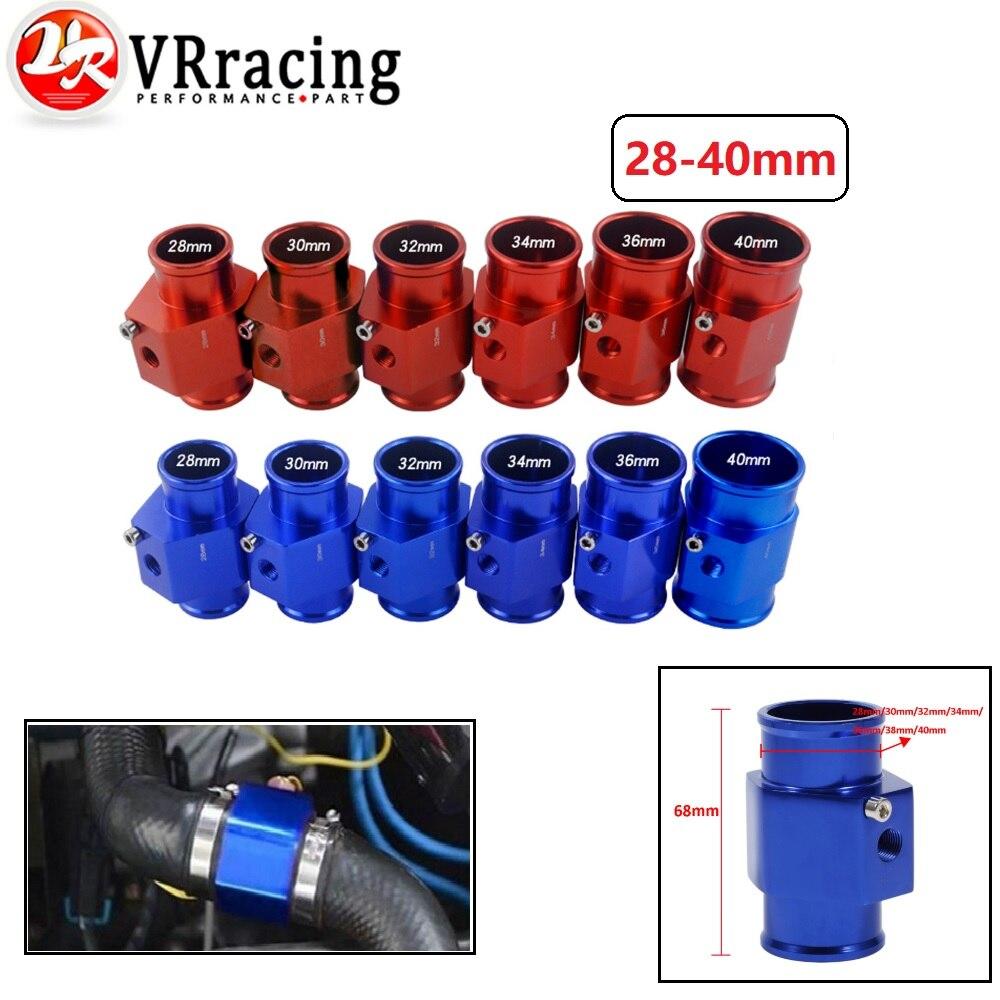VR RACING-Wasser Temp Gauge Kühler Temperatur Wasser Temp Joint Rohr Sensor 40mm/36mm/34mm/32mm/30mm/28mm Schlauch Adapter