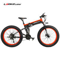 T750Plus 1000W Electric Mountain Bike 27 Speed Snow Bike Folding Ebike Citybike Roadbike 5 PAS Full Suspension 26'' 4.0 Fat Tire