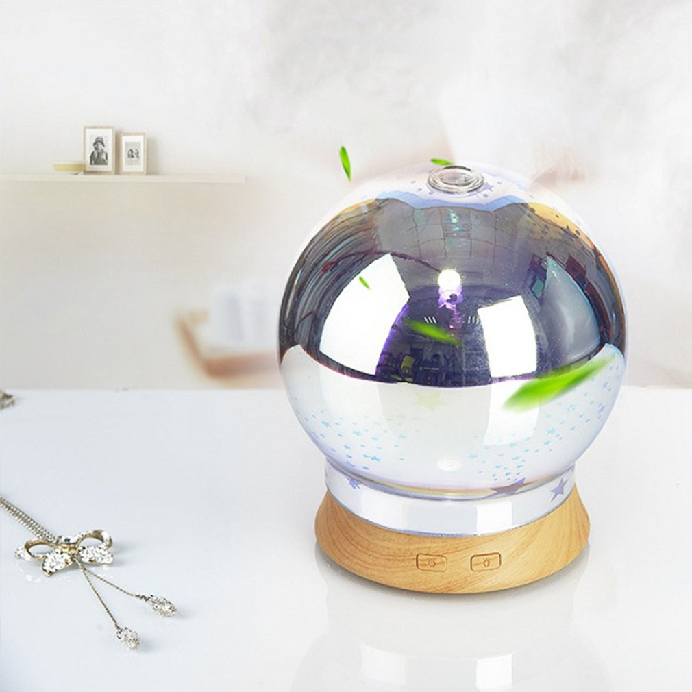 100ML 100-240V 3D Effect Glass Light Essential Oil Aroma Diffuser Ultrasonic Humidifier Aromatherapy Mist Maker Best Gift new humidifier aromatherapy essential oil ultrasonic 70ml 100 240v 20 30 square meters 9 5 9 5 16 5cm bud shape