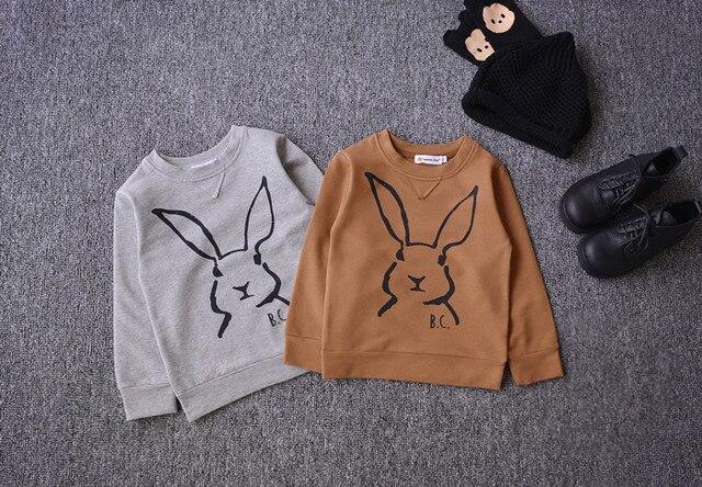 2016 бобо выбирает кролик рисунок дети толстовки кофты vestidos vetement enfant гарсон fille bebe детская одежда