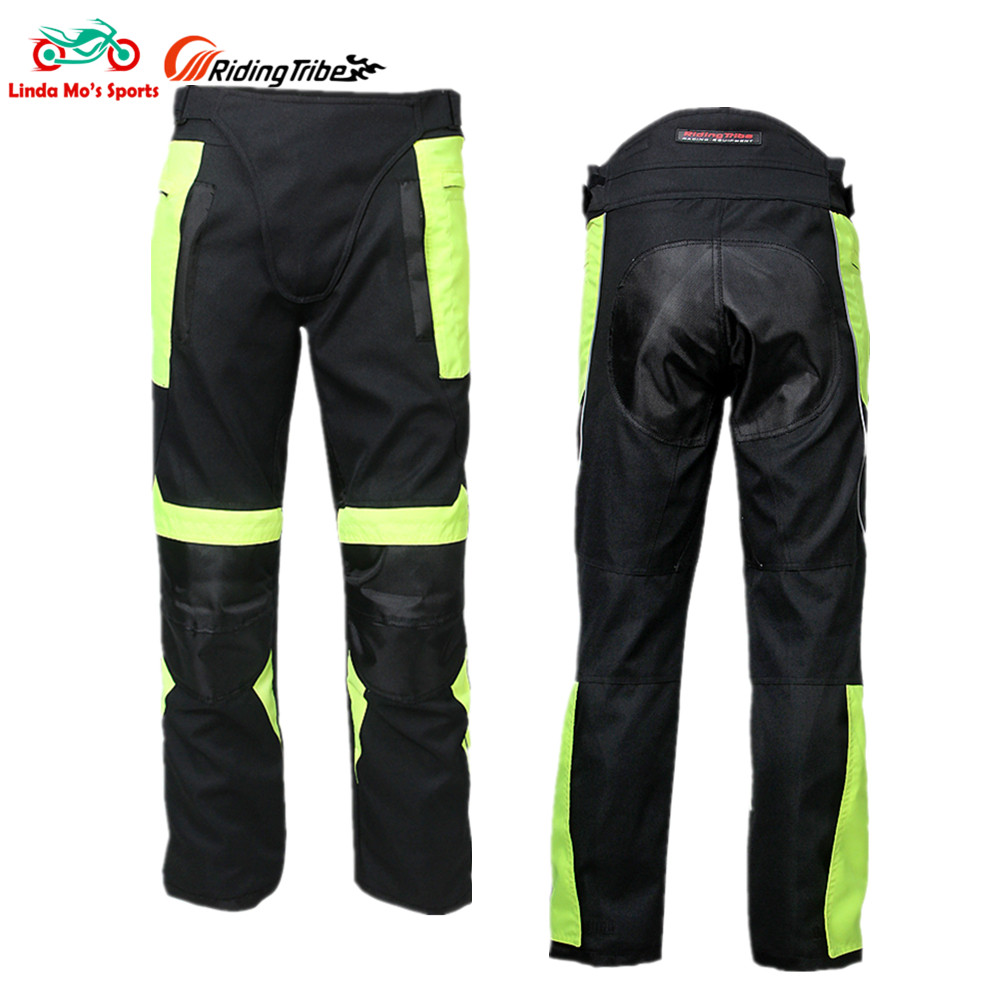 RIDING TRIBE Motocross Riding Sport Motorcycle Pants Street Racing Windproof Moto Trouser Removable Protector Moto Clothing Wear