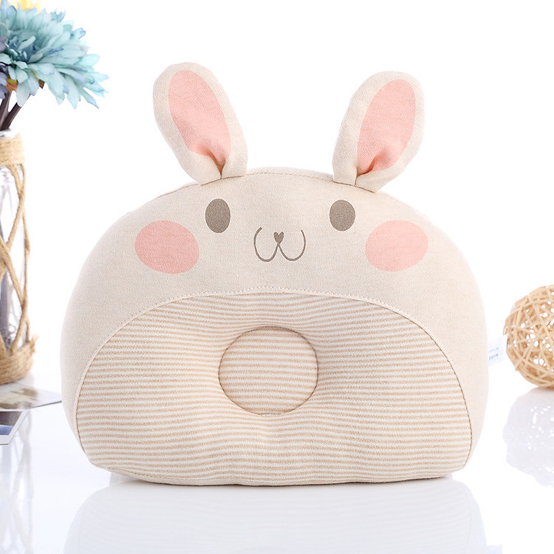 Newborns Bedding Pillow Cute Rabbit Shape Baby Shaping Pillow Breathable Infant Head Support Cushion Pillow Prevent Flat Head