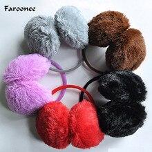 Faroonee 1Piece Women/Girl Fluffy Earmuffs U Pick Solid Color Soft Plush Earmuffs Ear Warmers Ear Muffs Earlap Winter Warm S3784