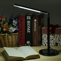 Black Led Desk Lamp Usb Innovation Office Eye Protected Foldable Rechargeable Swivel Desk Bright 24LEDs Reading