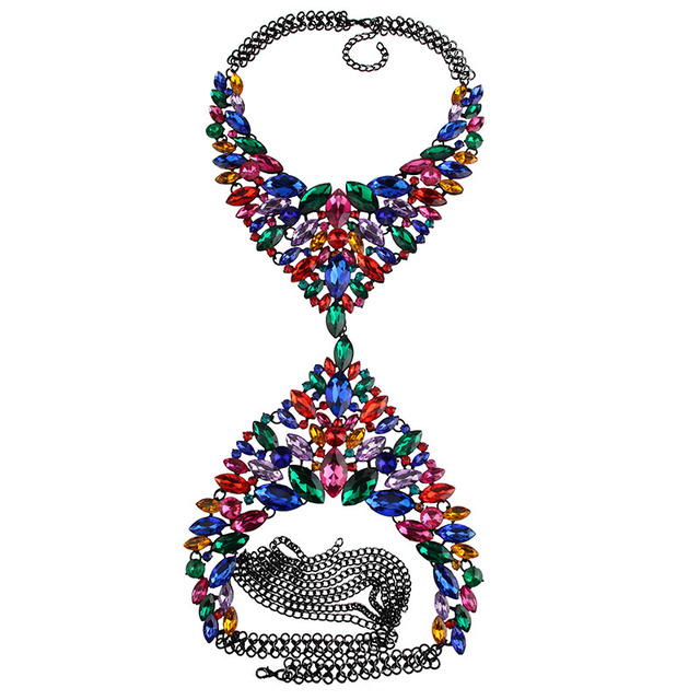 Massive necklace and body jewelry. 11 colors