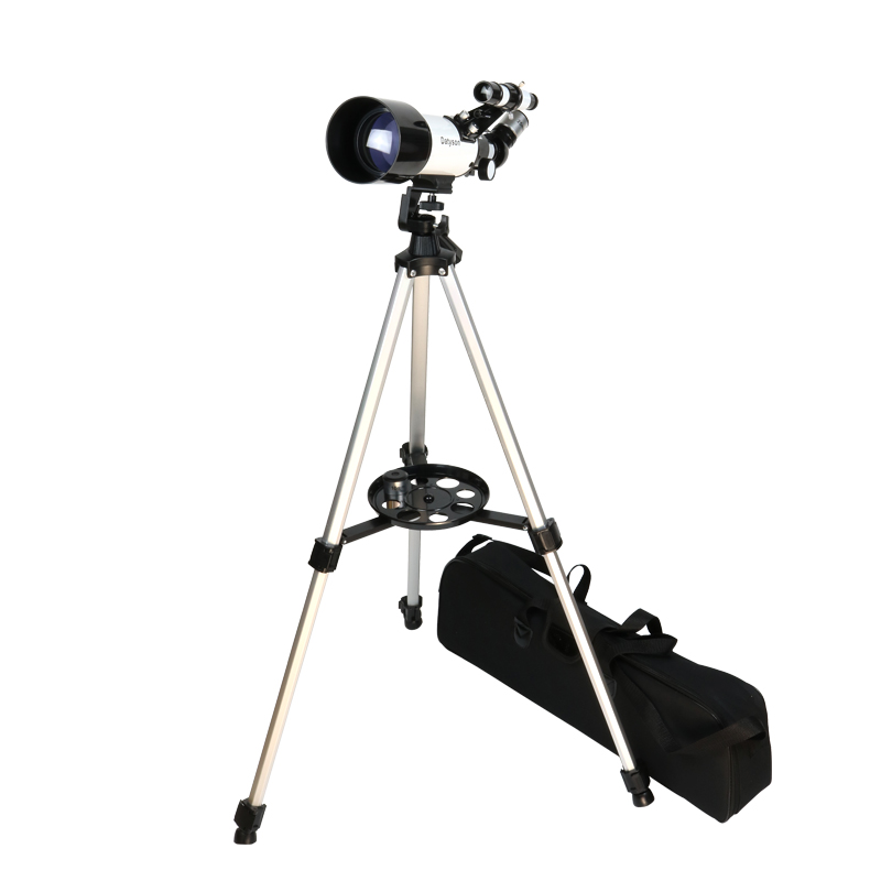 Astronomical Telescope 1.25 Inch F70400M with High Tripod Finderscope Portable Bag Space Moon Watching Monocular Early Learning