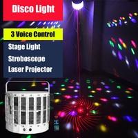 KTV Laser Projector Dmx Multicolor Stroboscope Disco Light Bar Stage Light DJ Disco Led Light Home Party Light Music The Strobe