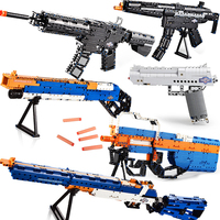 Compatible legoing guns smg awp pubg sniper rifle pistol AK47 desert eagle swat weapon ww2 mp5 p90 model building blocks toys