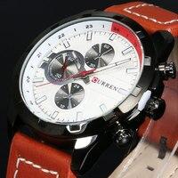 Fashion CURREN Mens Watches Luxury Brand High Quality Leather Business Quartz Watch Men Waterproof Wristwatch Relogios