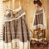 Japaness Summer Mori Girl Sweet Dress Women S Appliques Cotton Lace Flowers Sleeveless Strap Female Vestido