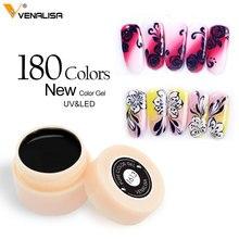 180 Color Venalisa Professional Nail Art Design 5ml UV LED Soak Off Paint Gel Ink UV Gel Color Gel Nail Polish lacquer Varnish