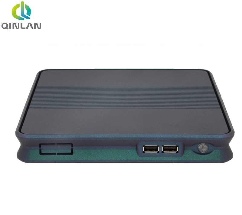 QINLAN Fanless Mini PC Intel Celeron N2930 Support Dual Display VGA and HDMI ,WIFI ,Industrial Mini Computer nettop fiscal end aluminum fanless embedded computer with i3 3217u 6com 4g ram onboard 2 intel lan support wake on lan dual 24bit lvds