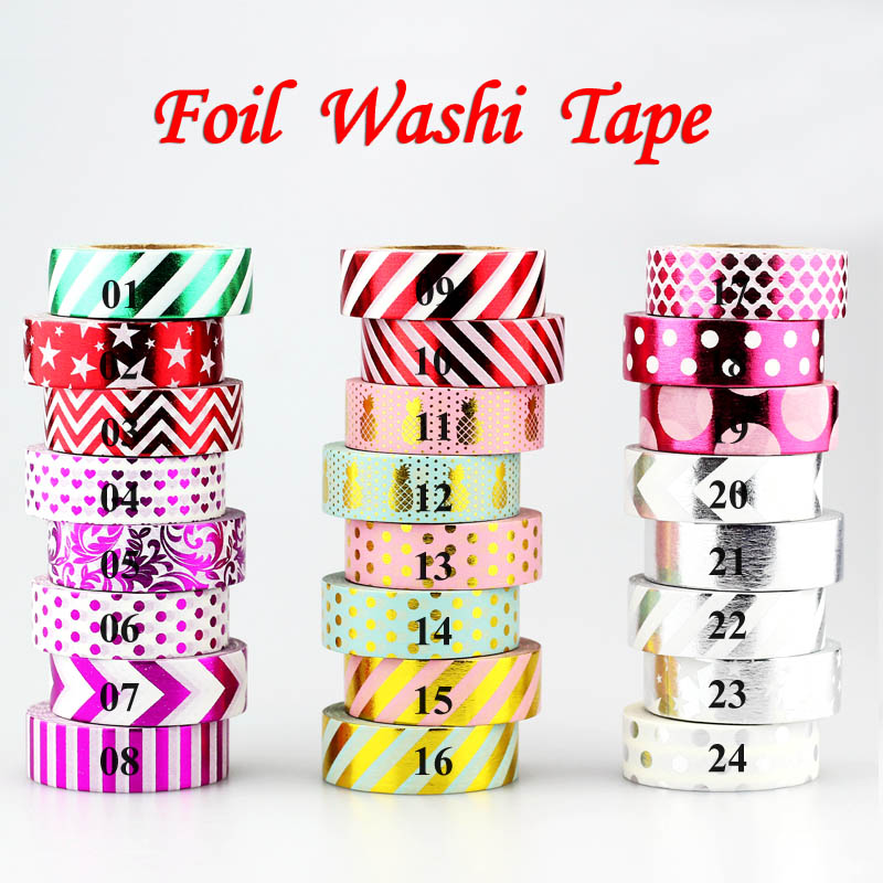 10m 1x Gold foil Masking Tape red stars,chevrons,arrow,dots,stripes,pineapple,heart decorative washi tape Scrapbook Photo Album high quality gold foil 10m paper tape dot strip pineapple heart christmas decorative washi tape 1pcs